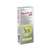 Bravecto PLUS SPOT-ON for Cats 1.2-2.8kg - Green (3 Months)