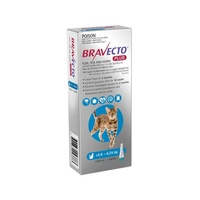 Bravecto PLUS SPOT-ON for Cats 2.8-6.25kg - Blue (3 Months)