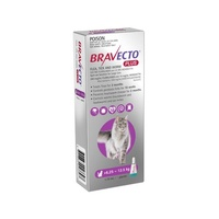 Bravecto PLUS SPOT-ON for Cats 6.25-12.5kg - Purple (3 Months)