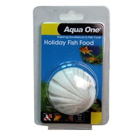 Aqua One Holiday Fish Food Block - 40g