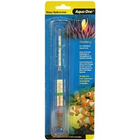 Aqua One Glass Floating Hydrometer & Thermometer for Salt Water Aquariums
