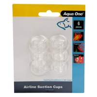 Aqua One Air Line Suction Cups - 6 Pack