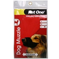 Pet One Nylon Adjustable Dog Muzzle - Large - Black