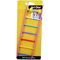 Avi One Bird Toy Multi Coloured Ladders with Geometric Beads
