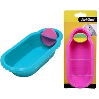 Avi One Bird Toy Fanciful Bath with spinner