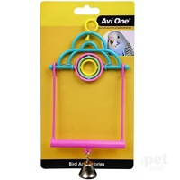 Avi One Bird Toy 2 In 1 Swing with turning Rings