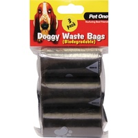 Pet One Dog Waste Bags - 3 Pack