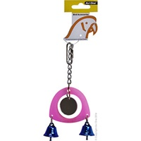 Avi One Bird Toy Acrylic Mirror With 2 Bells