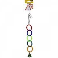 Avi One Bird Toy Acrylic 5 Rings with Bell