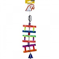 Avi One Bird Toy Acrylic Ladder with Bell