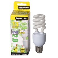 Reptile One Compact UVB Bulb (13 Watt) (UVB 2.0) E27 Eddison Screw Fitting