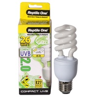Reptile One Compact UVB Bulb (26 Watt) (UVB 2.0) E27 Eddison Screw Fitting