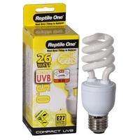 Reptile One Compact UVB Bulb (26 Watt) (UVB 5.0) E27 Eddison Screw Fitting