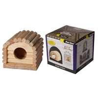 Pet One Mouse Wood Playhouse Cosy Cabin (10x10x9.5cm)