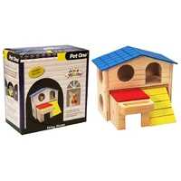 Pet One Mouse Wood Playhouse Hidey House (15.5x9x16cm)
