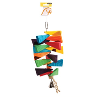 Avi One Parrot Toy Wooden Steps with Bell - 16x38cm