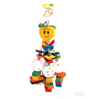 Avi One Parrot Toy Wooden Apple with Blocks & Plastic Balls - 18x42cm