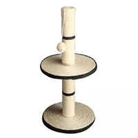 Pet One Cat Scratching Tree Post 2 Tier With Ball - 30x30x64cm (grey)