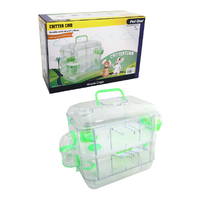 Pet One Critter Crib Mouse Habitat - 2 Level - 40L X 27W X 39cmH - Green