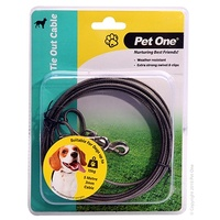 Pet One Tie Out Cable - 5 Meters - Dogs Up To 15kg