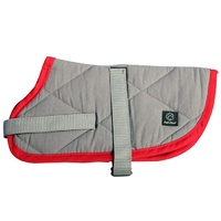 Pet One NightSleeper Dog Coat - 45cm - Grey/Red