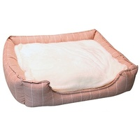 Pet One Rectangular Dog Bed - Squares Blue - Medium (65x55x17.5cm)