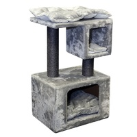 Pet One Cat Scratching Tree Climbing Cubes With Post - 40cm X 30cm X 67cm