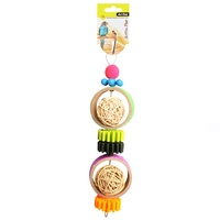 Avi One Bird Toy Rattan Balls With Plastic Disc - 27cm