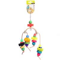 Avi One Bird Toy Arc With Plastic Disc And Beads - 28cm