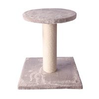 Pet One Cat Scratching Tree Post with Platform - 35cm W x 35cm D x 40cm H (White/Jute)