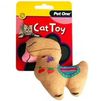 Pet One Plush Brown Llama Cat Toy - 13cm