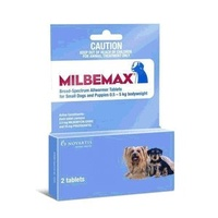 MILBEMAX for Small Dogs and Puppies 0.5-5kgs - 2 Pack - Light Blue