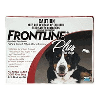 Frontline Plus for Extra Large Dogs 40-60 kgs - 6 Pack - Red