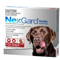 NexGard for dogs 25.1-50 kgs - Red - 3 Pack