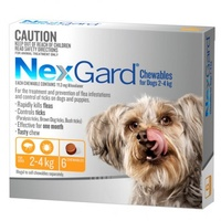 Nexgard for dogs 2-4 kgs - Orange - 6 Pack