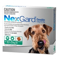 NexGard for dogs 10.1-25 kgs - Green - 6 Pack
