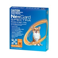 NexGard SPECTRA for Dogs 2-3.5 kg - 3 Pack - Orange