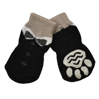 Non-Slip Dog Socks - Tuxeo Black - Medium (3x7.5cm)