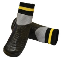 Waterproof Non-Slip Dog Socks - Black - 2X-Large (4.5x14cm)