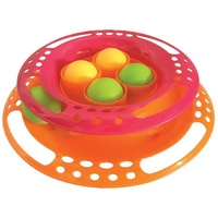 Scream Single Layer Orb Tower Cat Toy - Pink & Orange