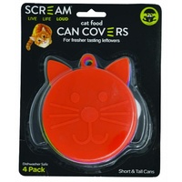 Scream Cat Food Can Covers - 4 Pack