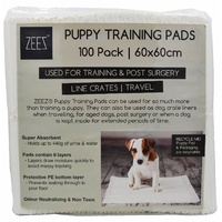 Zeez Puppy Training Pads - 60cm x 60cm - 100 Pack