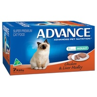 Advance Adult Cat Chicken and Liver Medley - Wet - (7 x 85g)