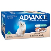 Advance Adult Cat Chicken and Salmon Medley - Wet - (7 x 85g)