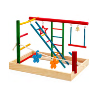 Birdie Play Gym for Budgies & Cockatiels - Medium (36x26x27cm)