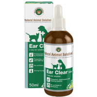 Ear Clear for dogs & cats - 50ml - Natural Animal Solutions