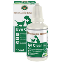 Eye Clear for dogs, cats, horses & livestock - 15ml - Natural Animal Solutions