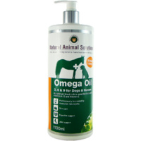 Omega 3, 6 & 9 Oil for Dogs & Horses - 1.1L - Natural Animal Solutions