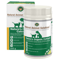 Nature's Organic Calcium for Pets - 200g - Natural Animal Solutions