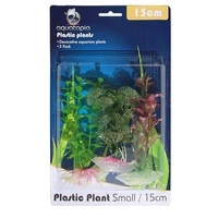 Natural Plastic Aquarium Plants - 3 Pack - 15cm